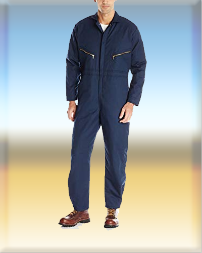 Red Kap Mens Long Sleeve Insulated Twill Coverall