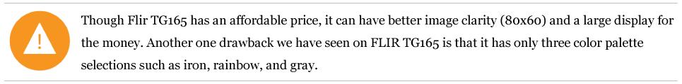FLIR-TG165-note