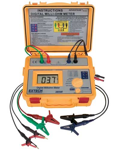 Extech-380580-NIST-Battery-Powered-Milliohm-Meter-with-NIST