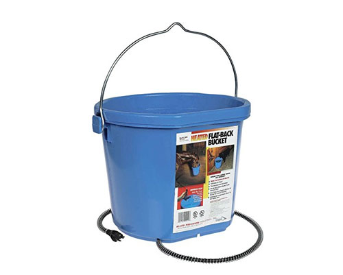 Heated Flatback 5 Gallon Heated Buckets